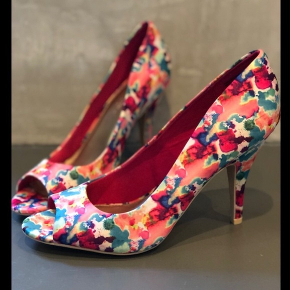 56cdbd097eb Christian Siriano for Payless - Floral Heels
